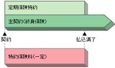 (終身保険に付加した例)